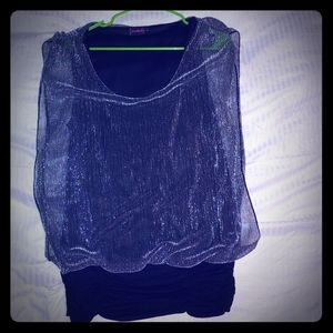 Never worn glitter top size 1x